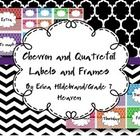 Here is a set of Full page and 1/4 page Chevron and Quatrefoil frames and labels for your classroom.  I hope you enjoy them!  Feed back is not only...
