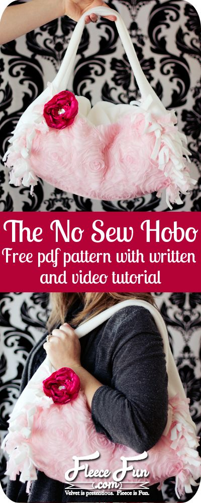 No Sew Hobo Purse Tutorial (free Pattern).  So easy and there's a video tutorial for it too!