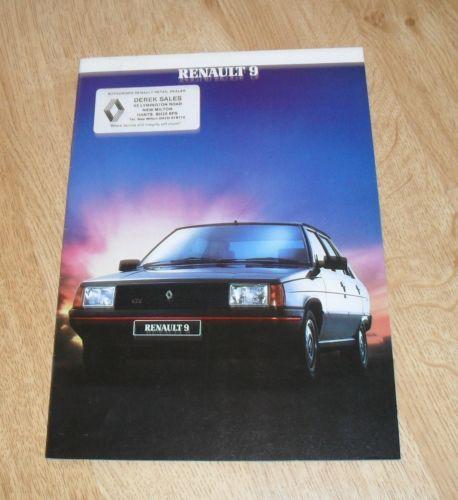RENAULT-9-brochure-1984-GTX-TD-GTL-TC