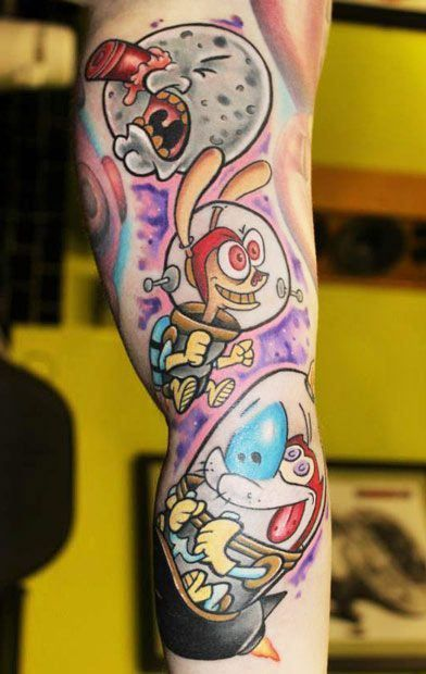 61 best tattoos images on pinterest cool tattoos video for Funny cartoon tattoos