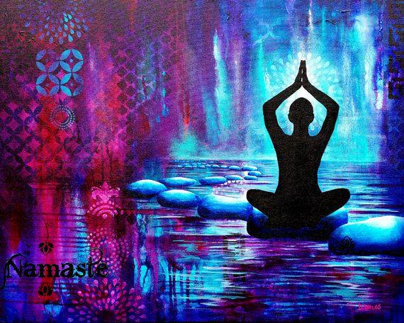Namaste, Yoga, Peace painting for sale Etsy: DianaDellosDesigns Blog: www.dianadellos.typepad.com