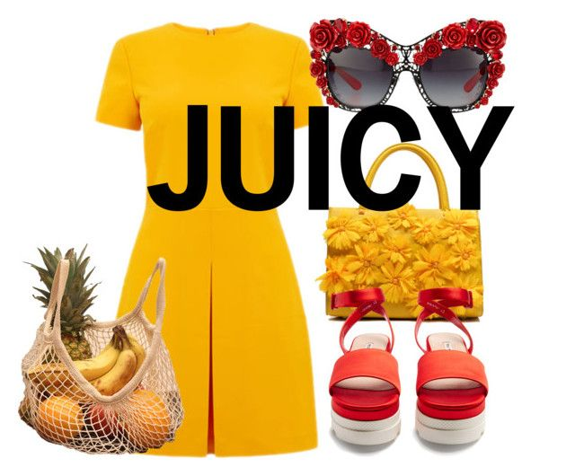 Juicy by illetilmote on Polyvore featuring Warehouse, Miu Miu and Dolce&Gabbana