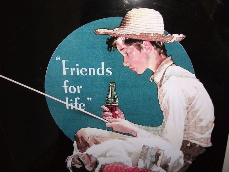 Coca Cola Werbeplakat aus Metall von 1997