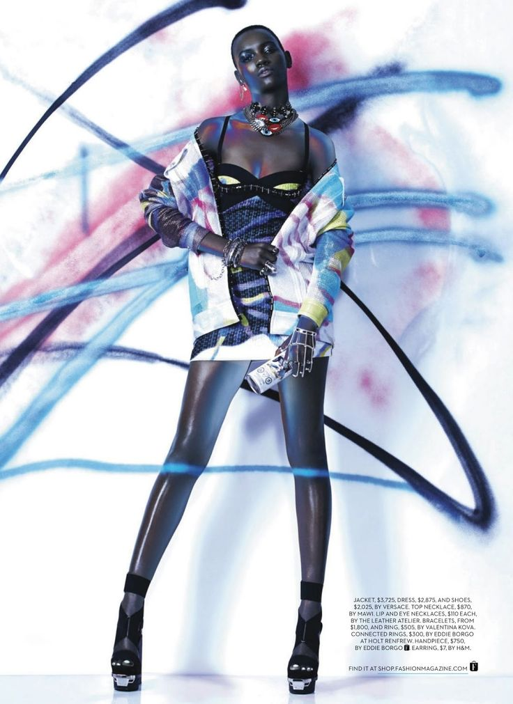 visual optimism; fashion editorials, shows, campaigns & more!: express yourself: herieth paul by gabor jurina for fashion canada april 2014