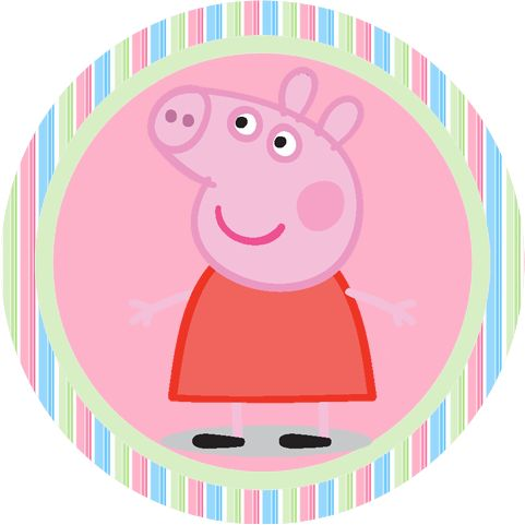 Peppa Pig Free Printable Toppers and Candy Bar Labels.