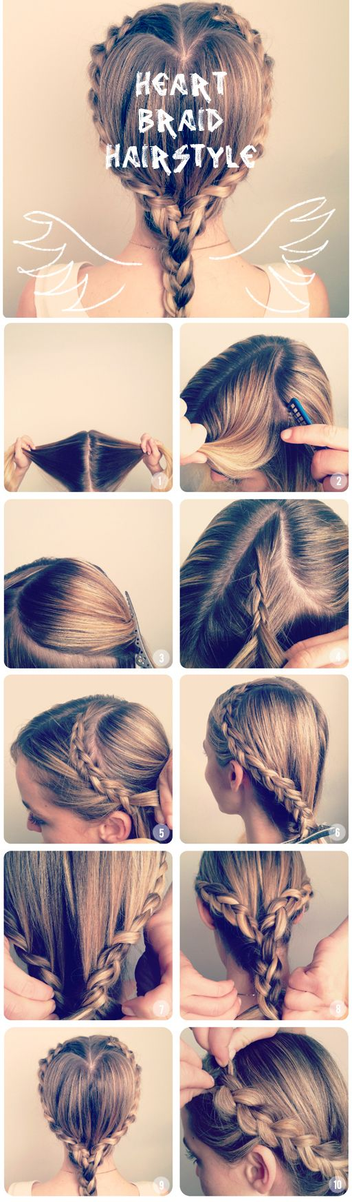 How to make a  Heart  Braid  Hairstyle