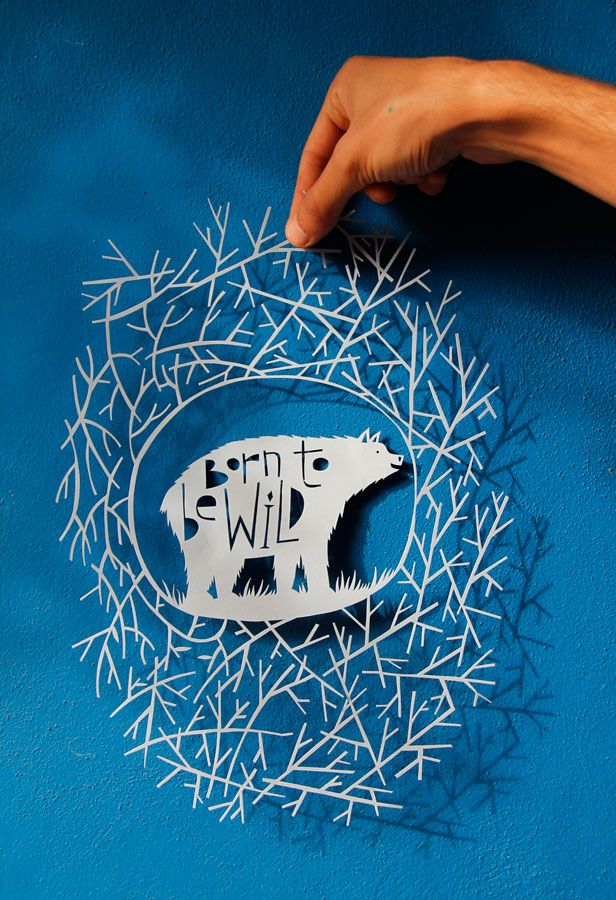 Born to be wild /// Paper cut by PaperPan