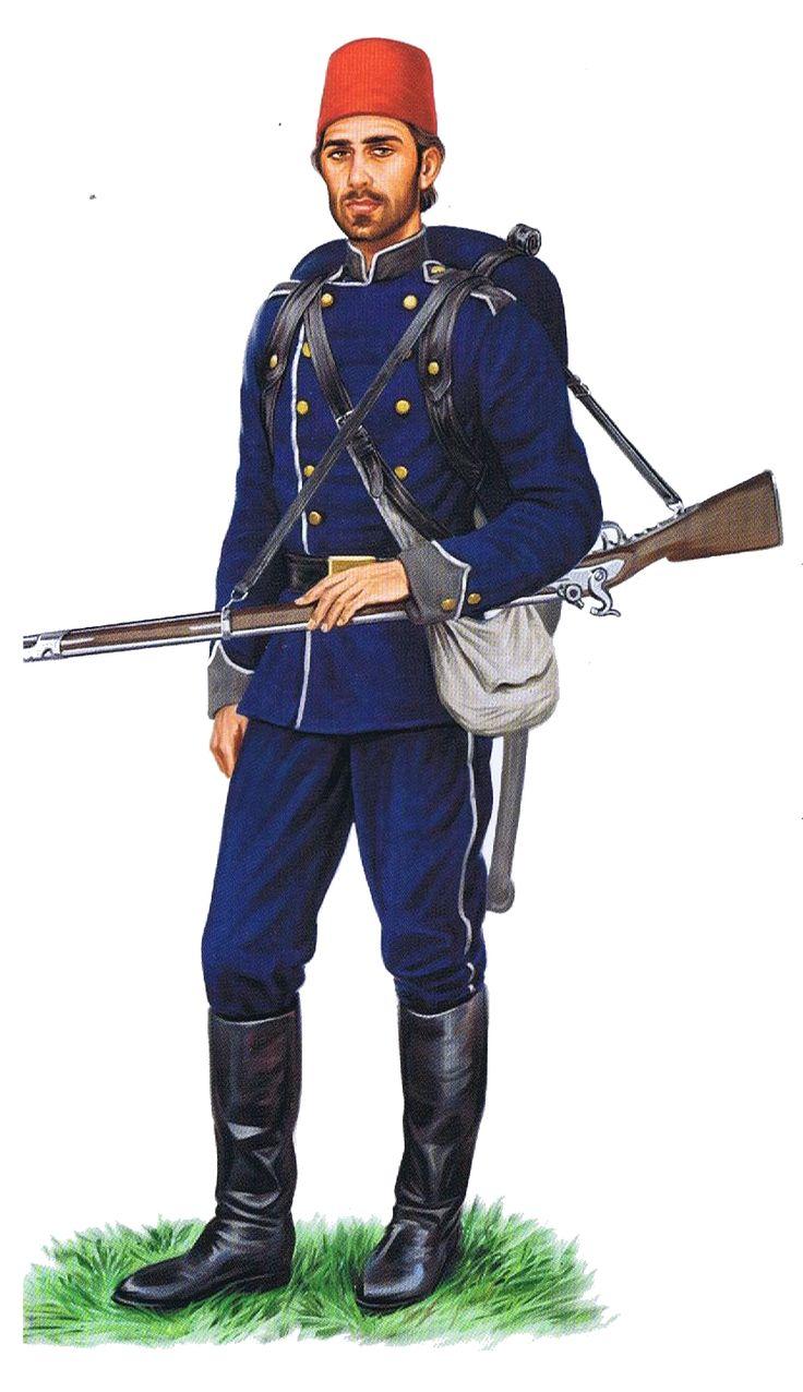Soldato turco reggimento fucilieri.