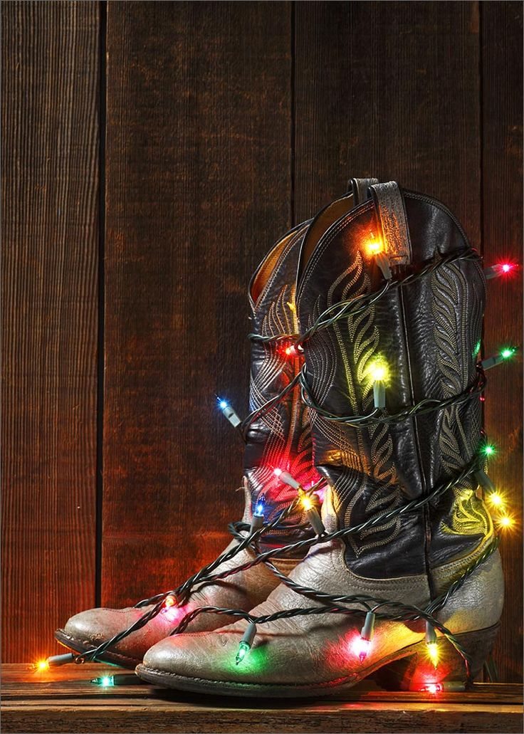 No Christmas tree?  In Texas you can always decorate a cactus, a tumbleweed, or just a cool pair of western boots...