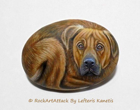 Mezcla de pitbull de bullmastiff de piedra marrón por RockArtAttack