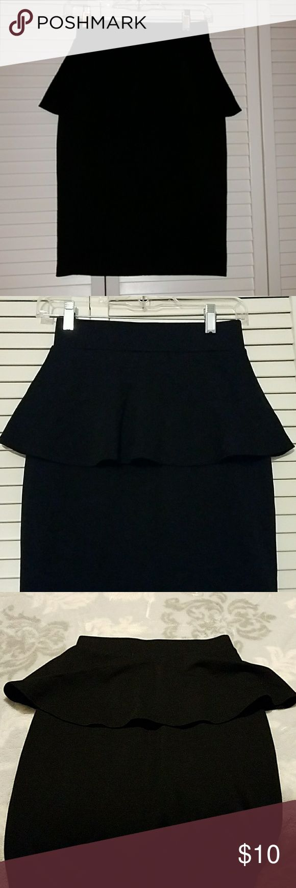 Black peplum skirt Cute and girly peplum skirt, length is to the knee. In excellent condition, used only once. Skirt is comfy and stretchy. OPEN TO OFFERS Skirts Pencil