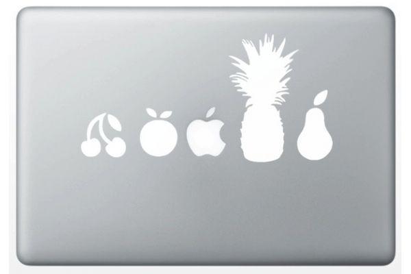 """Autocollant """"Fruits"""" pour MacBook Apple"""
