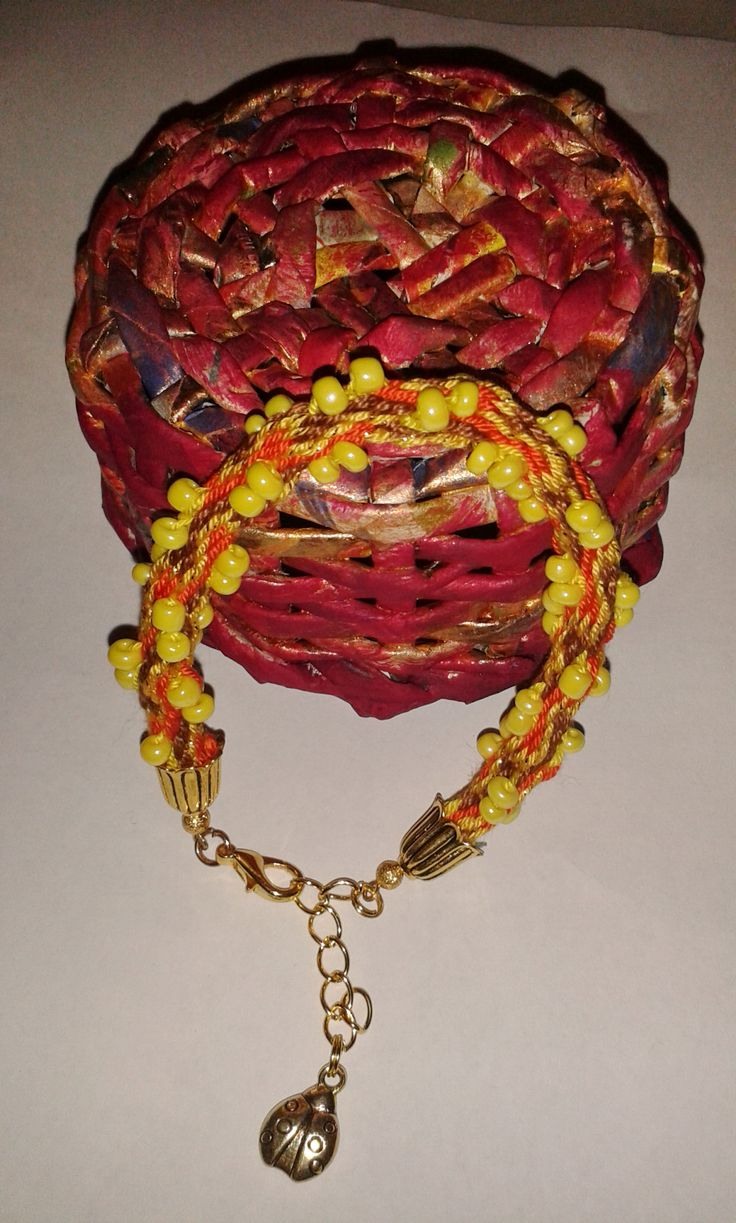 autumn beads bracelet
