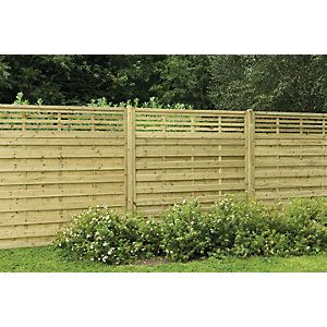 Wickes Kyoto Fence Panel 1.8mx1.8m 3 Pack - paint white?