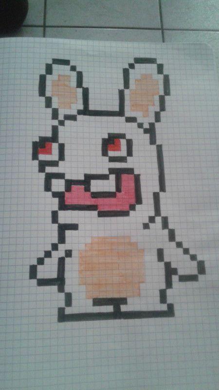 Lapin crétin Pixel Art Pinterest