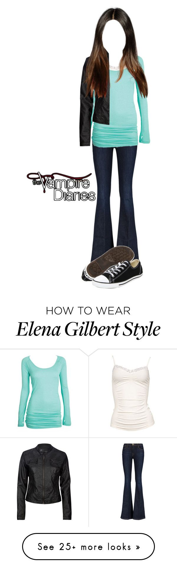 """""""Elena Gilbert Inspired Outfit"""" by demiwitch-of-mischief on Polyvore featuring Frame, Metropark, Ci Sono by Cavalini and Converse"""
