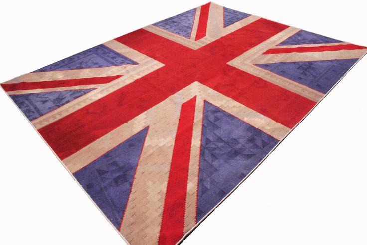 Patchwork-Kelim Union Jack