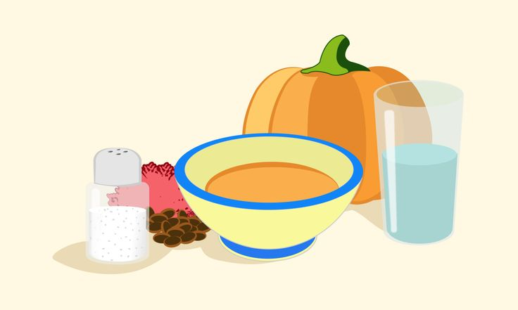Papinha de legumes, feijão e carne