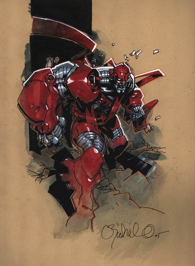 Earth-295 Age of Apocalypse - Colossus by Chris Bachalo