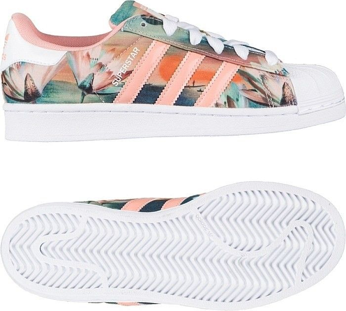 Adidas Originals Superstar x Farm Print Womens Trainers Dust Pink/White/Pink B35832 Superstar 80s W Basketball Shoes adidas trainers sale uk