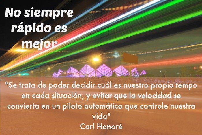 """""""No siempre ir rápido es mejor"""" Carl Honoré y los beneficios de la vida lenta"""