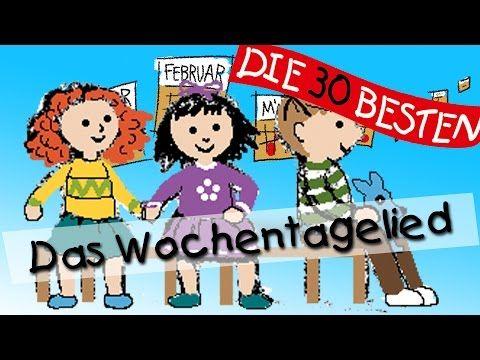 Wochentagelied - Wissenslieder für Kleinkinder    Kinderlieder - YouTube