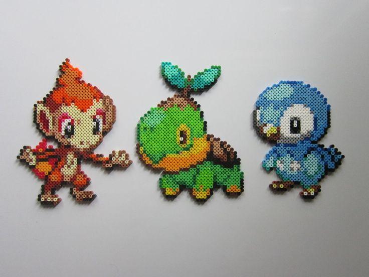 Pokemon Starters No.4 perler beads by 8-BitBeadsStudio on deviantART