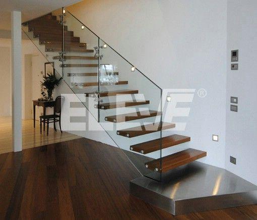 Las 25 mejores ideas sobre escaleras flotantes en for Pasamanos para escaleras interiores