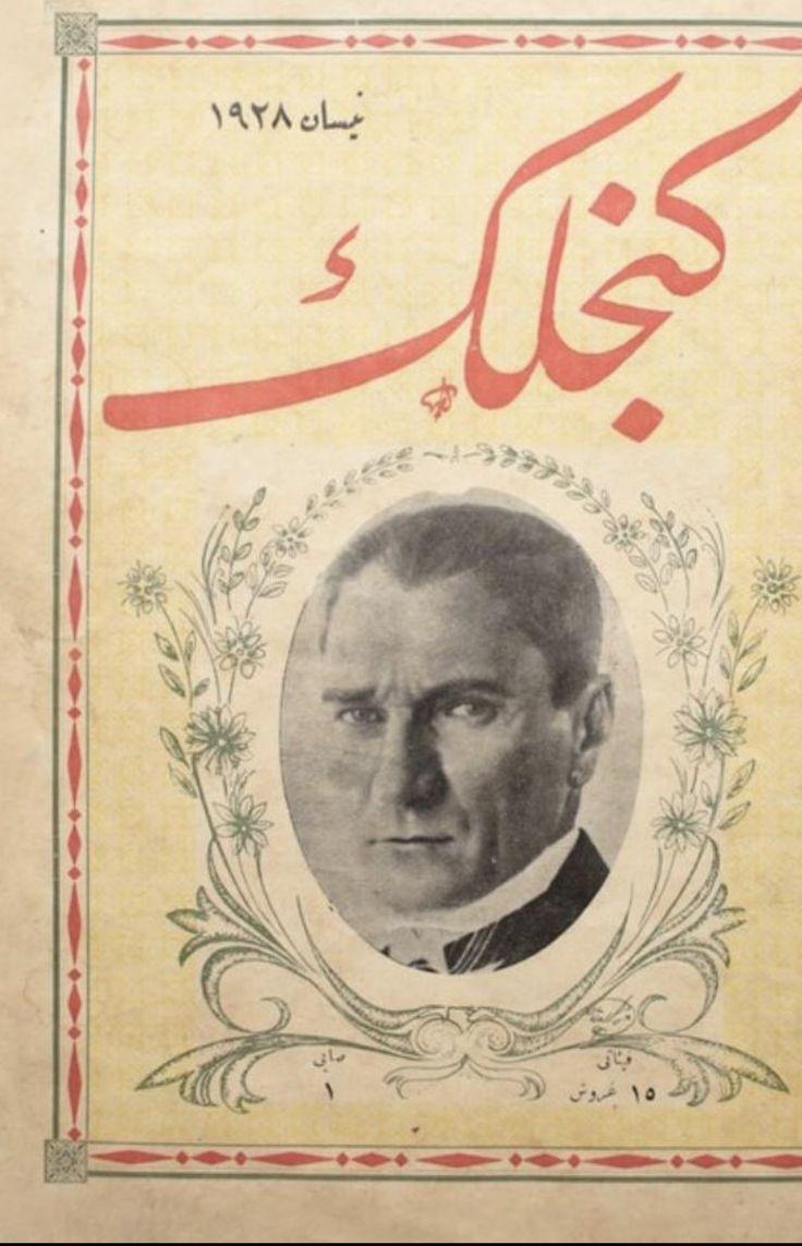 """1928 yılında Ankara'da yayınlanan """"Gençlik Mecmuası"""" ve kapağında Mustafa Kemal Atatürk @SMEYDAN"""
