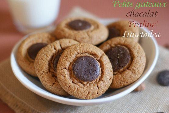 gateau sec / petits gâteaux chocolat praliné - Amour de cuisine