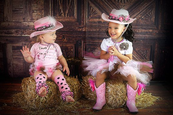 Cowgirl tutu setpink and brown tutu setpink by GlitterMeBaby, $50.00  Camden and Crissy lil girl must have this picture!!