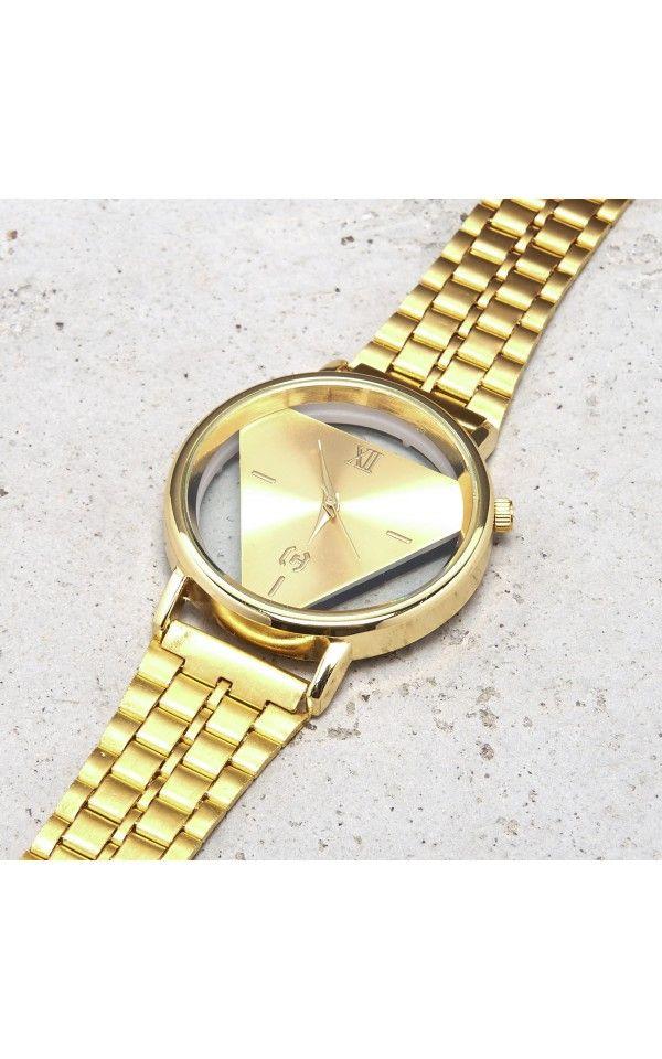 Zegarek, BIŻUTERIA, brĄzowy, CROPP