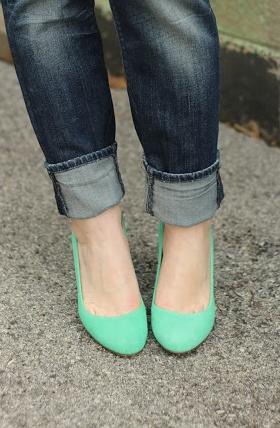 Mint Green Pumps <3