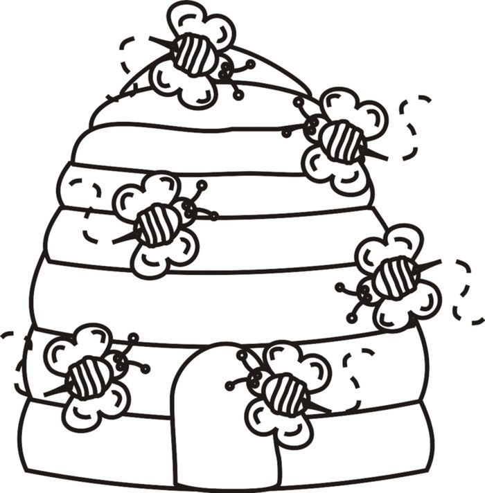 Bee Coloring Pages For Kids In 2020 Bee Coloring Pages Bee Hives Diy Bee Printables