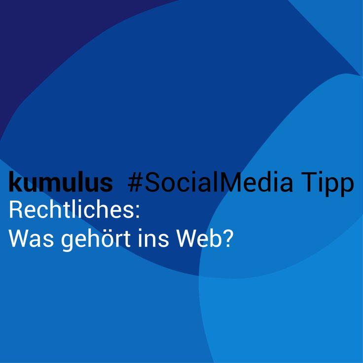 Rechtlicher Rahmen – kumulus #SocialMedia Tipp