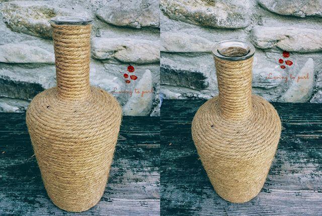 Twine vase