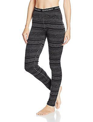 Small, Jet HTHR/Black/Black, Icebreaker Women's Vertex Icon Fair Isle Base Layer