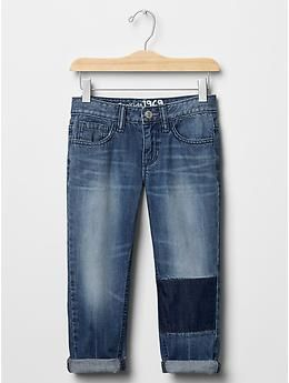 1969 patch boy fit cropped jeans