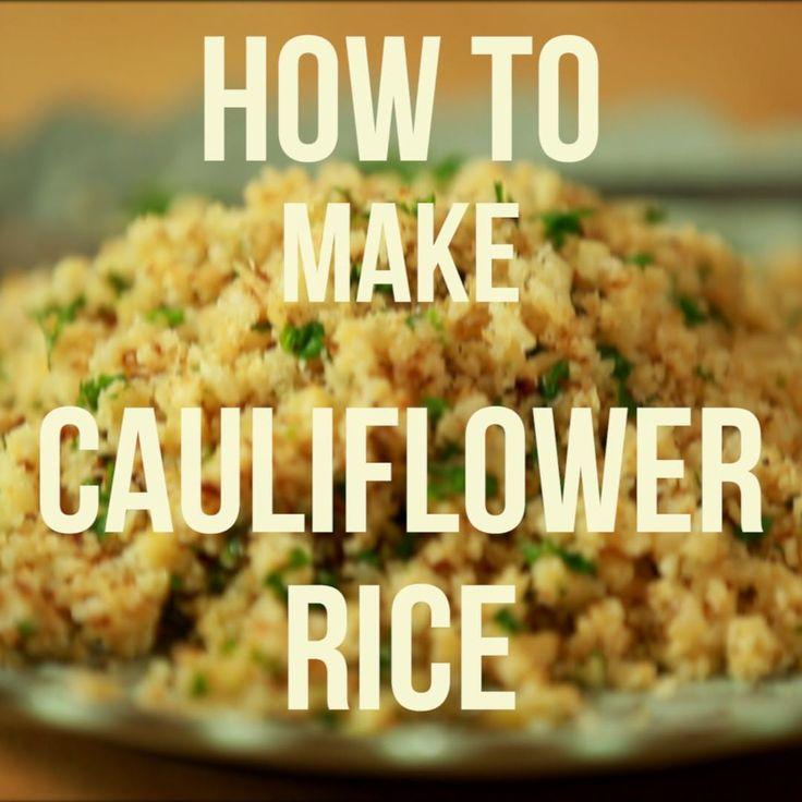 How to Make Cauliflower Rice (Video)