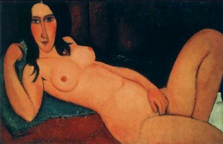 アメデオ・モディリアーニ「髪をほどいた横たわる裸婦」