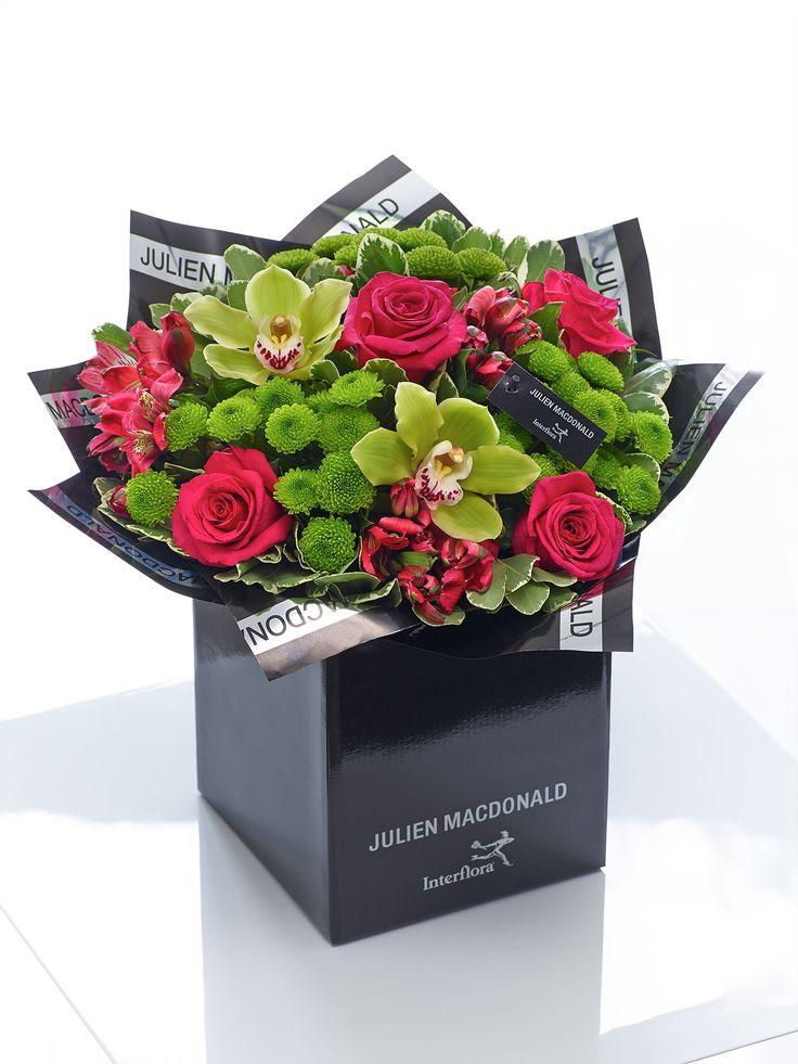 Julien Macdonald Vibrant Orchid and Rose Hand-tied - Interflora