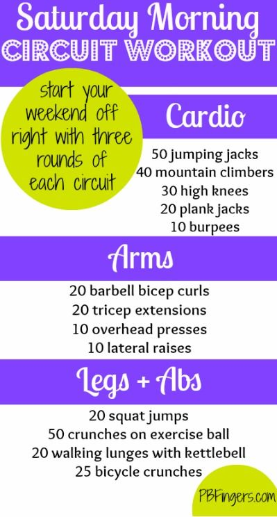 Saturday Morning Circuit Workout - Cardio + Arms + Legs + Abs