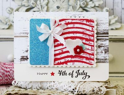 Happy 4th Of July Card by Melissa Phillips for Papertrey Ink (June 2014)