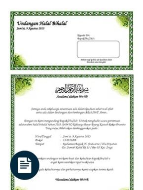 Contoh Surat Undangan Syukuran Pernikahan Doc Microsoft Office