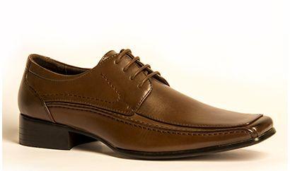 Zapato cordón - café