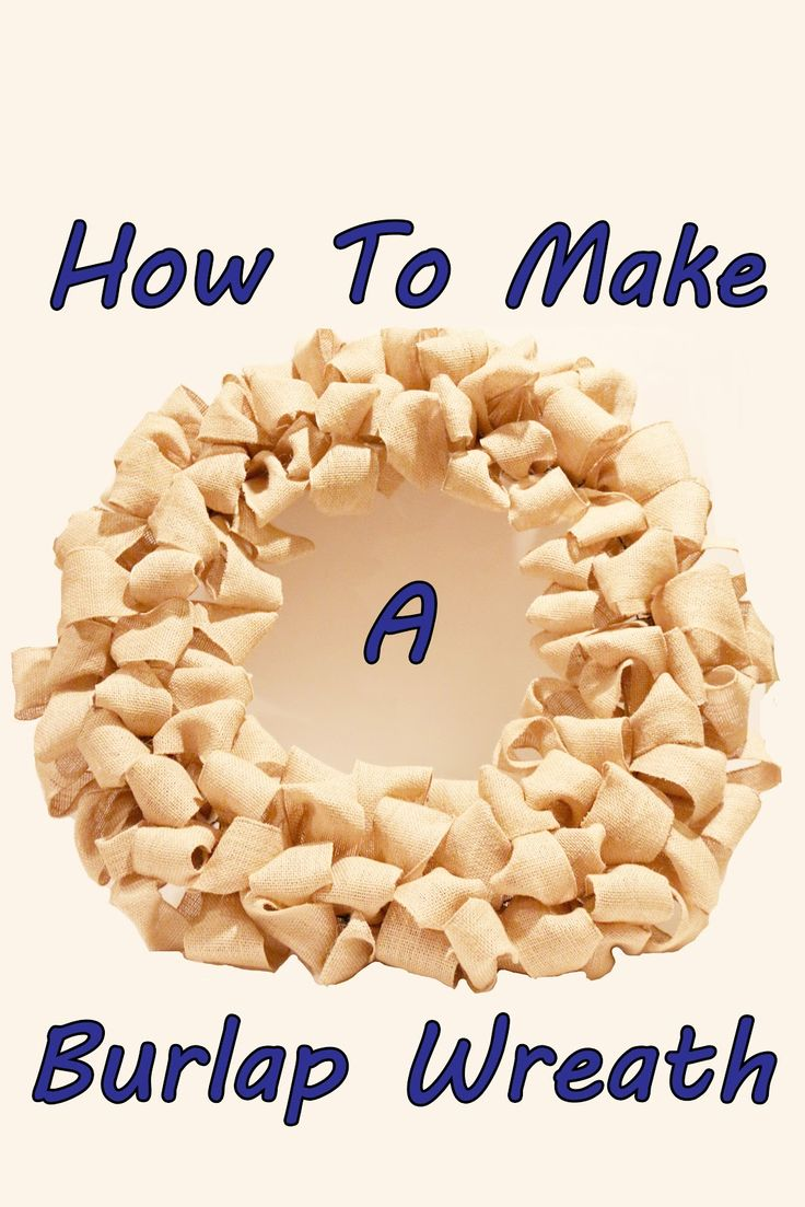 Foxy's Domestic Side: Craft Time: How To Make a Burlap Wreath