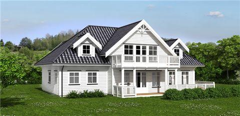 Norske Hus - Ambassadør - Perspektiv Vinduer og terrassedør.