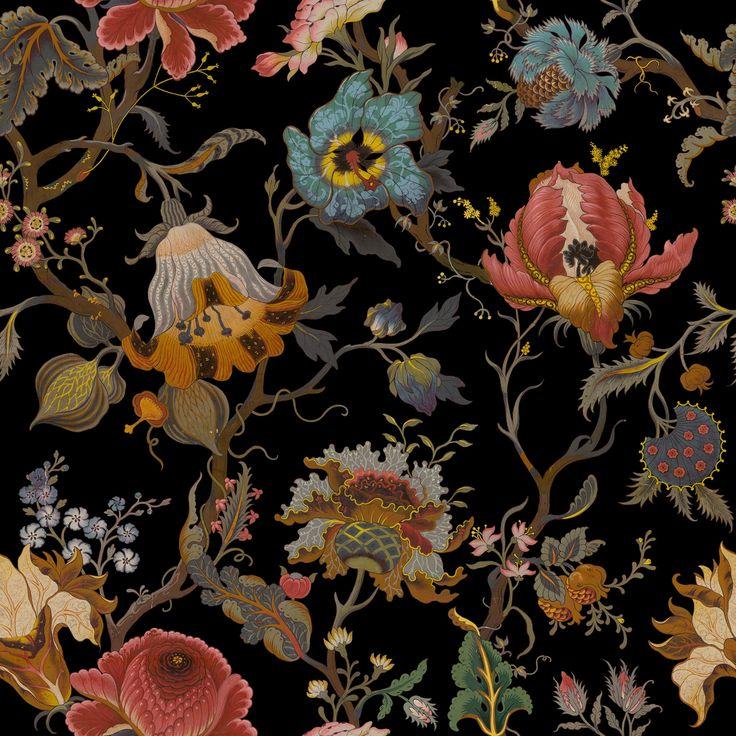 ARTEMIS Linen Viscose Black | House of Hackney floral