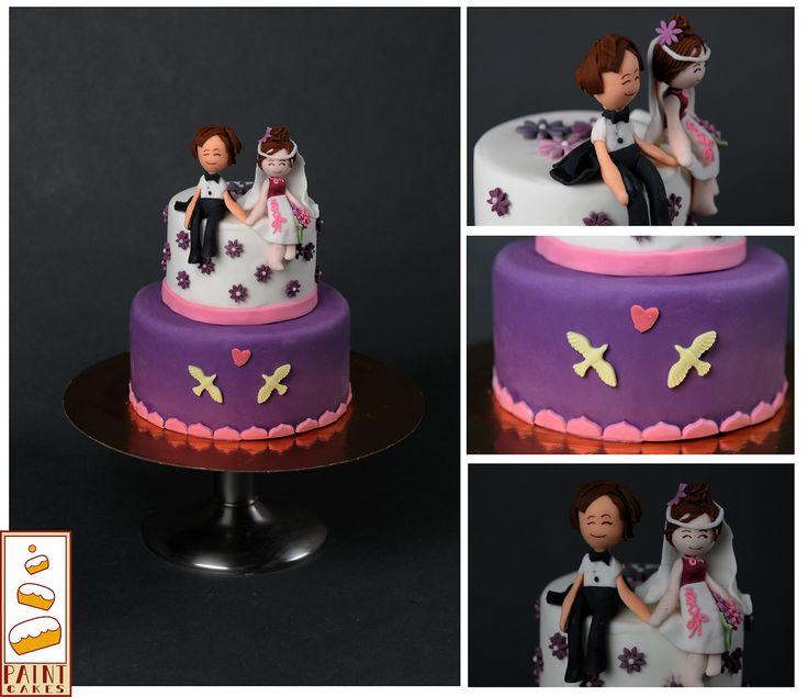 Empezamos con una sonrisa #tarta #boda #lunes