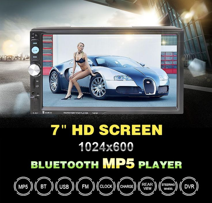 61.56$  Watch here - http://ali99e.shopchina.info/go.php?t=32754197083 - 7023D 2 Din Car Video Player Auto Audio Stereo MP5 Player 7 inch 2Din Car MP3 Player USB FM Bluetooth Support Rear View Camera 61.56$ #aliexpress